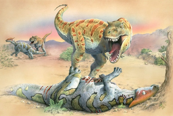 Young t-rex first kill
