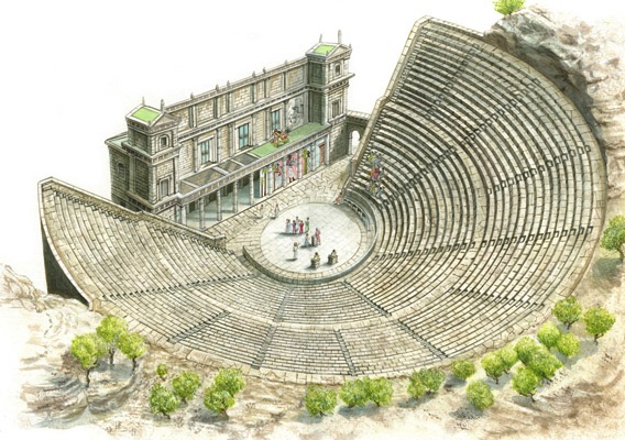 an introduction to the history of theatre in greece Introduction | lesson for grades 5-12 developed by the national center for history in the and show the clip on greek theatre listed in the.